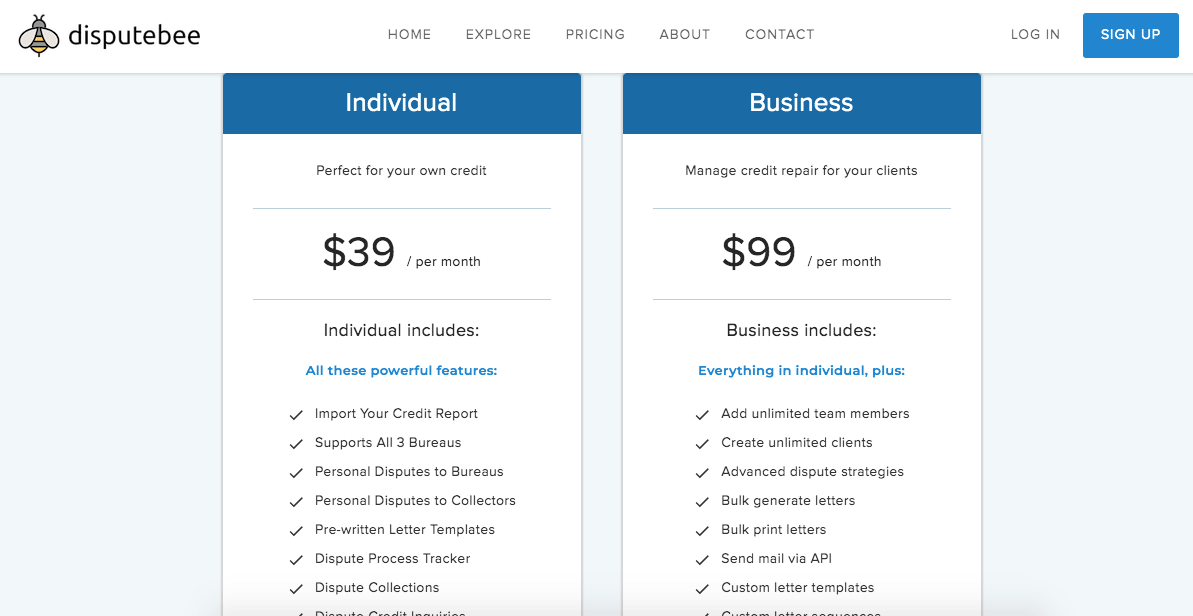 DisputeBee Pricing