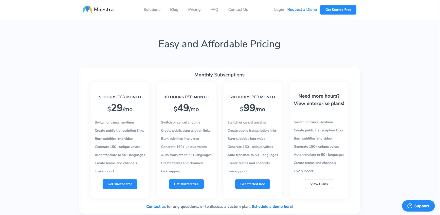 MaestroSuite Pricing