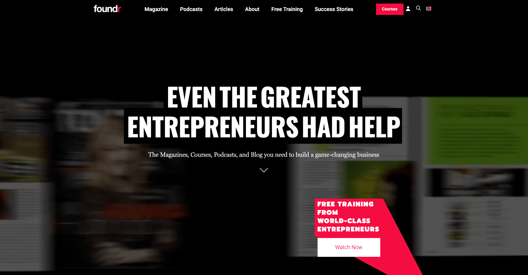 Foundr Homepage