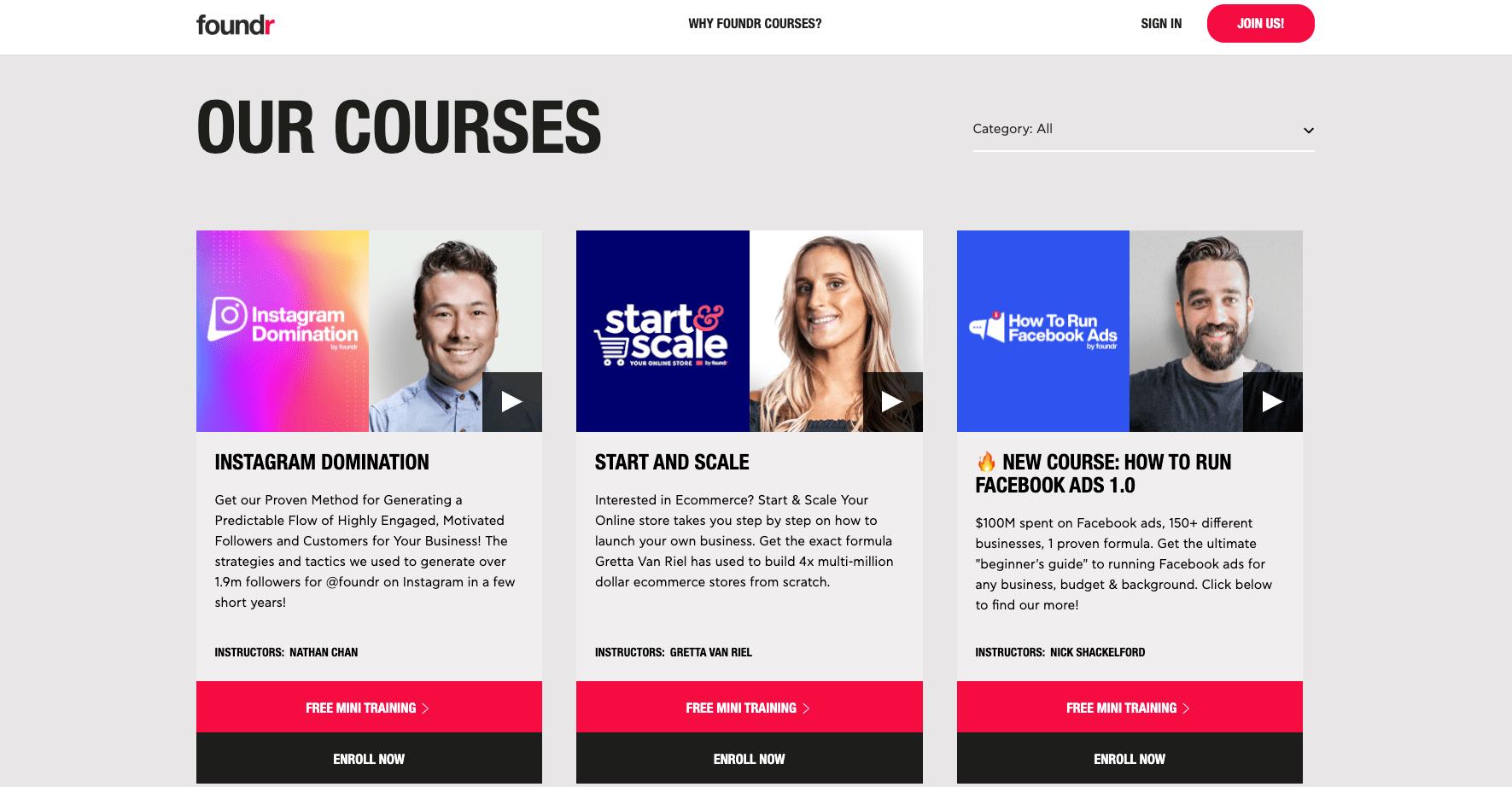 Foundrs Online Courses
