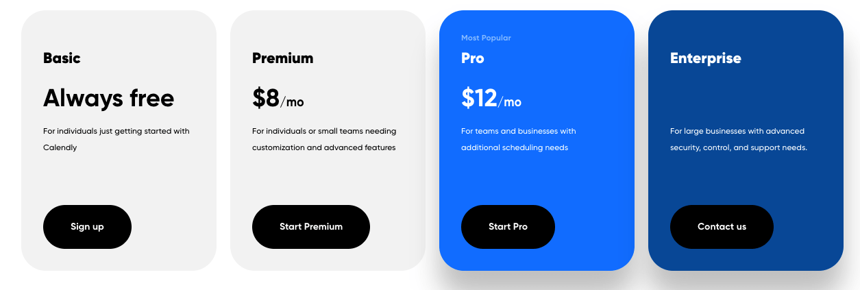 Calendly Pricing