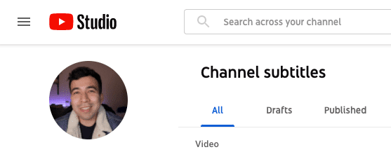 Youtube Studio Subtitles