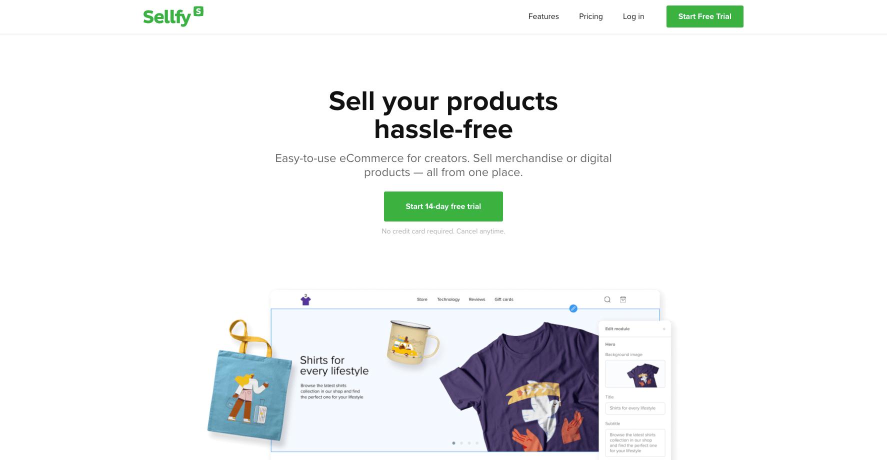 Sellfy Digital Product Platform