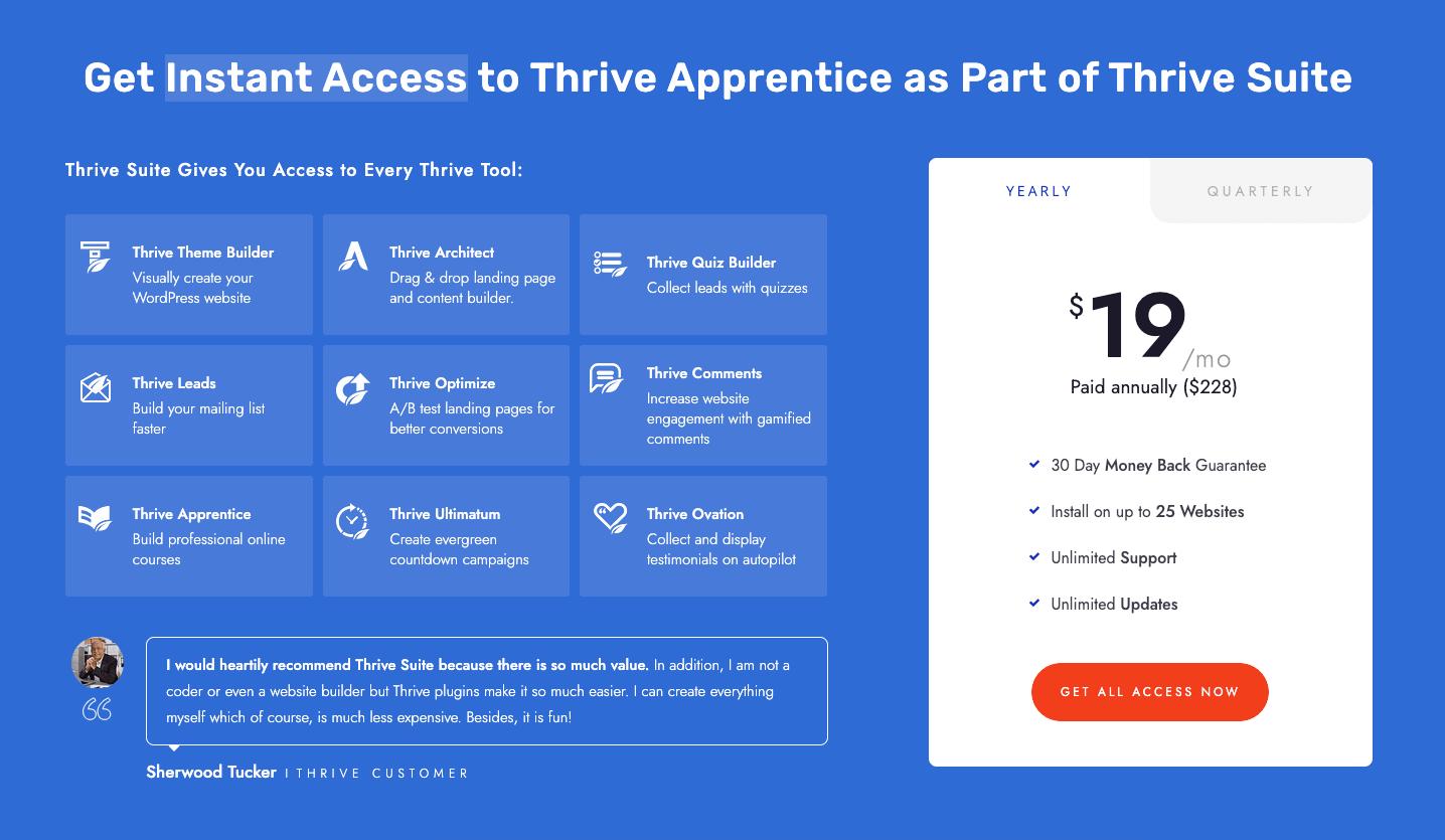 Thrive Apprentice Pricing