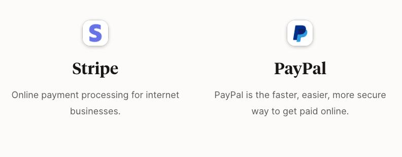 Podia Payment Processors