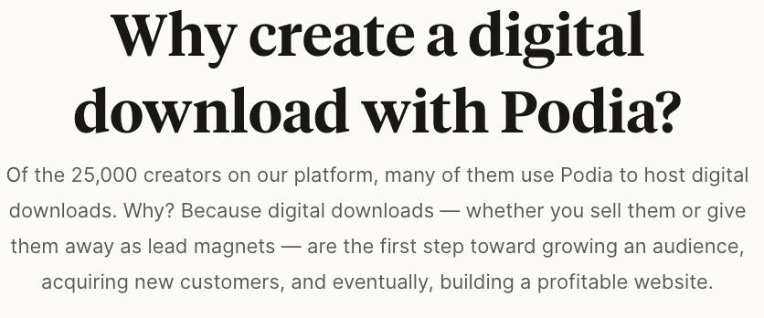 Podia Digital Downloads