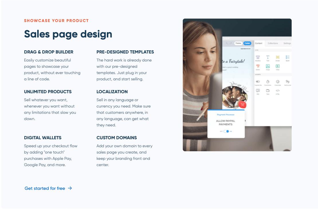 SamCart's Sales Page Design