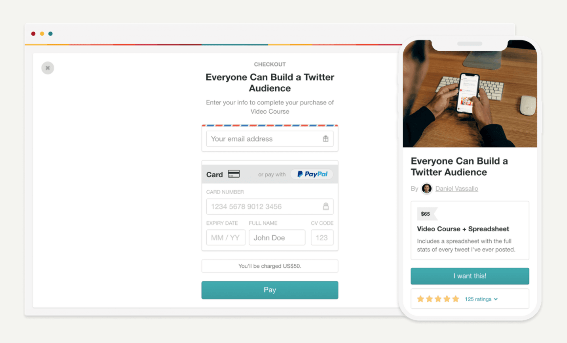 Gumroad Checkout Pages