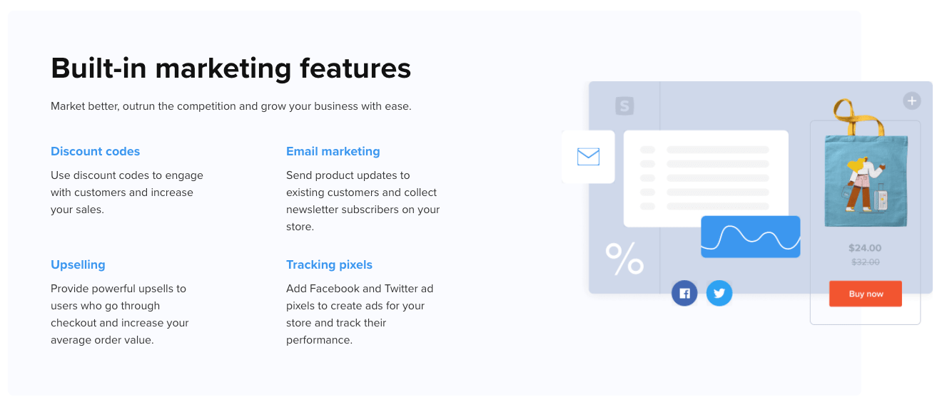 Sellfy Marketing Features